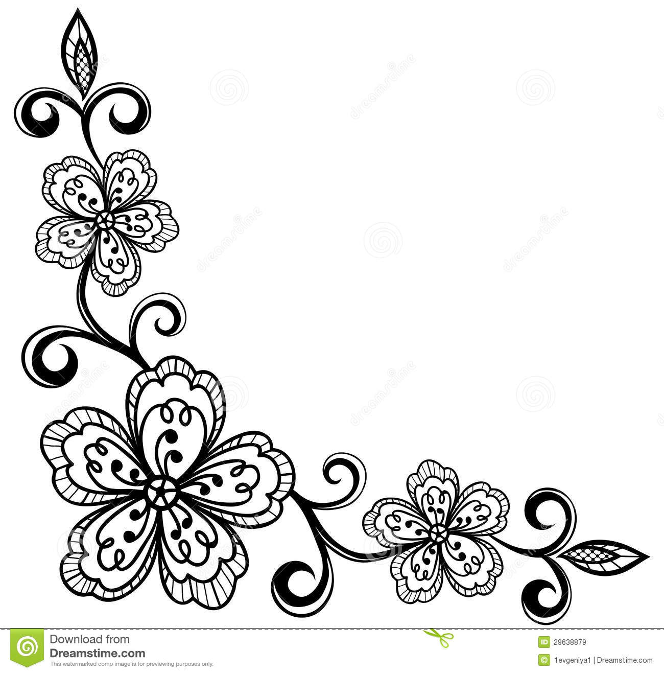 Lace Flower Clipart.