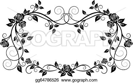 Ornamental flower clipart #2