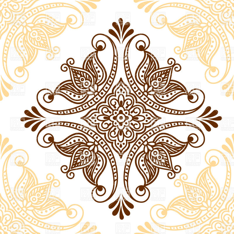 Ornamental mehndi style flower.