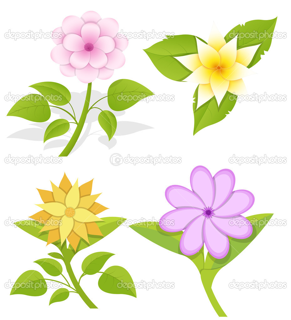 Ornamental Flowers Vectors — Stock Vector © baavli #27981137.