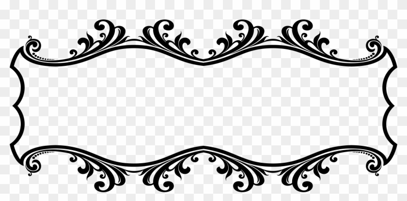 Clipart Ornamental Flourish Frame Aggrandized Big Image.