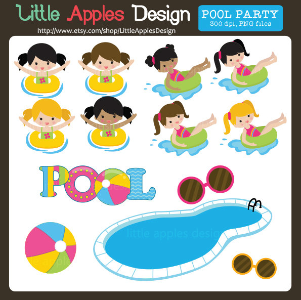 Pool party clip art.