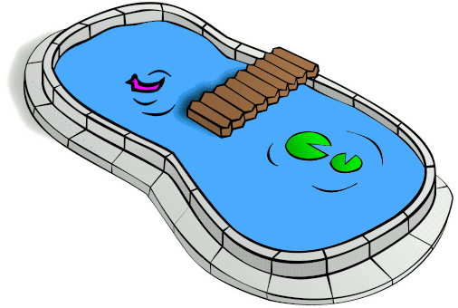 Swimming pool shapes clipart.