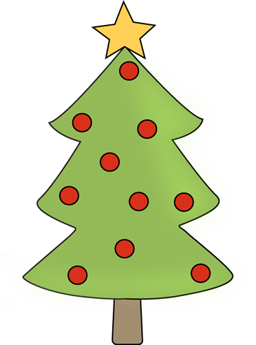 Red Ornament Christmas Tree Clip Art.