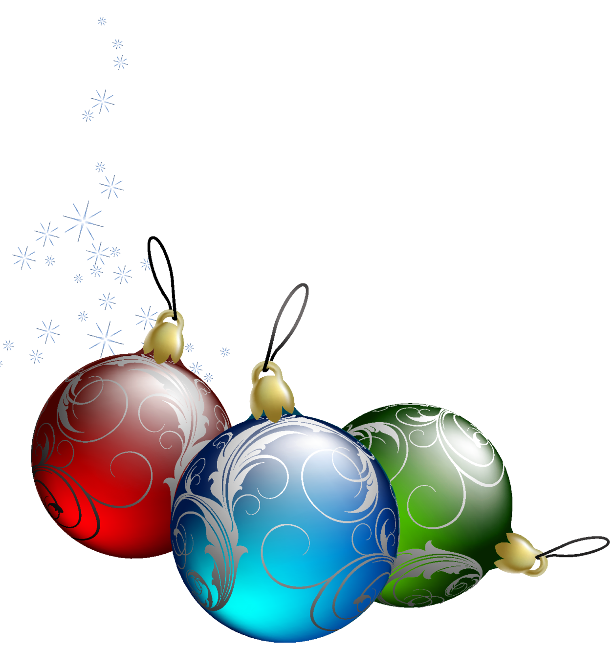 Tree Christmas Transparent Ornaments Clipart.