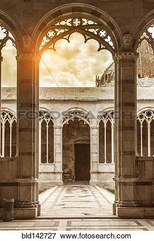 Picture of Ornate arches of cathedral, Pisa, Tuscany, Italy.