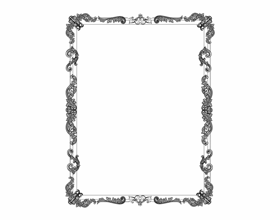 Ornate Frame Black.