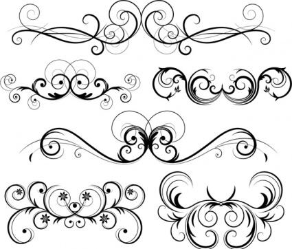 Ornate Clip Art, Vector Ornate.