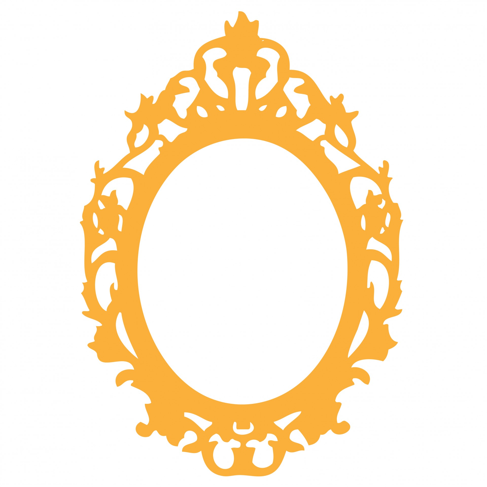 Ornate Orange Frame Clipart Free Stock Photo.