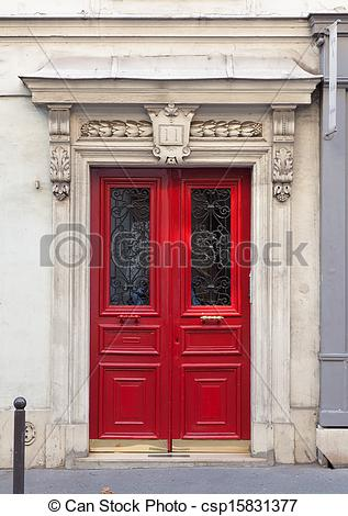 Picture of Double front door with decorated archway.