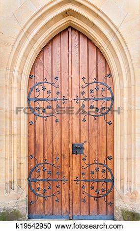 Stock Photography of Historical ornate door , Kutna Hora, Czech.