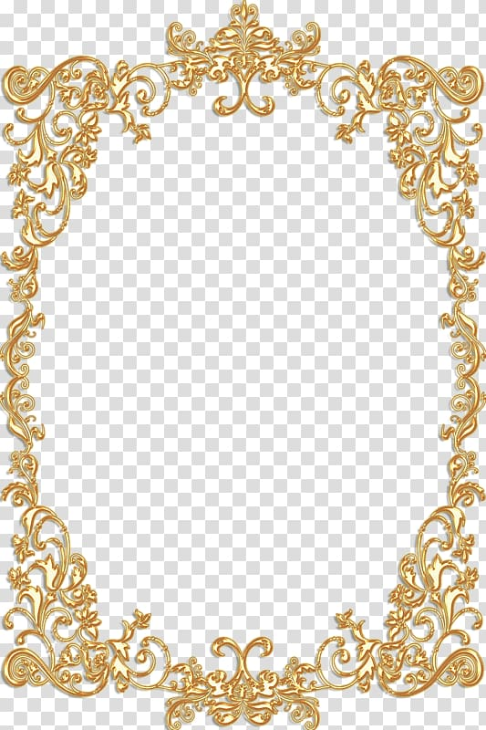Yellow ornate border illustration, Frames Gold Vintage.