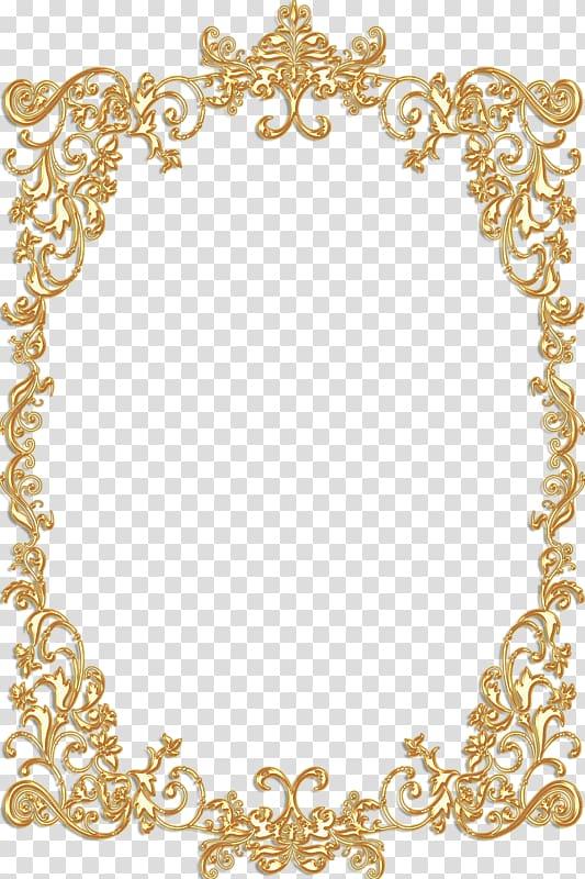 Yellow ornate border illustration, Frames Gold Vintage.