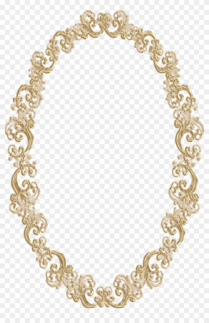 Frame Ornate Oval Gold Vintage Portrait Picture.