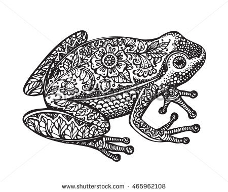 Ornate horned frog clipart #6