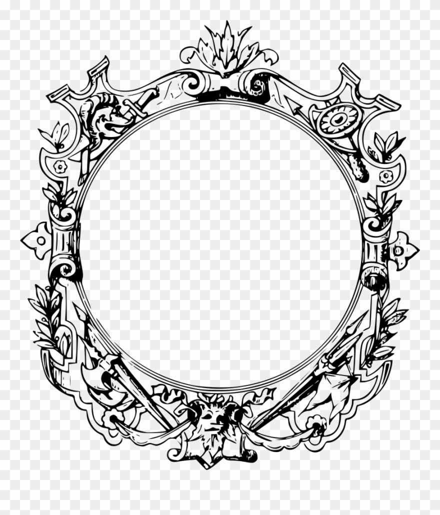 Decorative Borders Filigree Ornament Picture Frames.