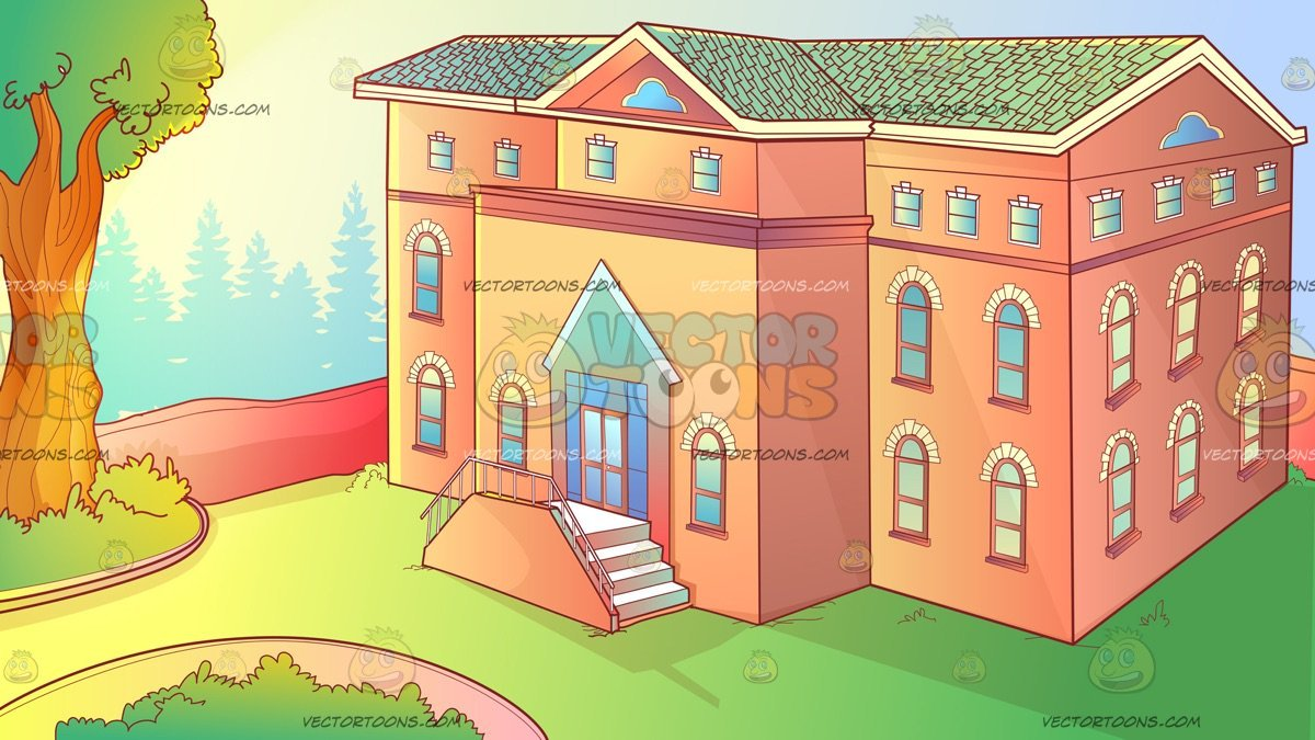 The Exterior Of An Orphanage Background.