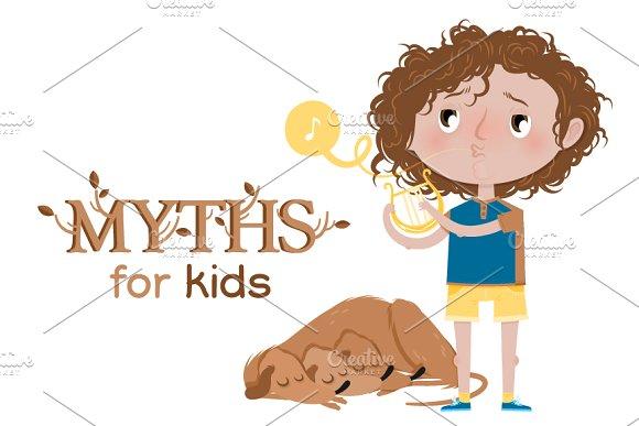 Myths for kids: Orpheus ~ Illustrations on Creative Market.