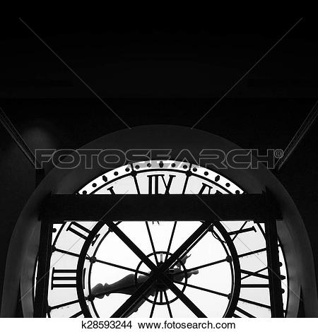 Stock Photo of Orsay Museum (Musee d'Orsay) clock in Paris.