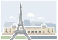 Attractions Paris France Stock Illustrations.