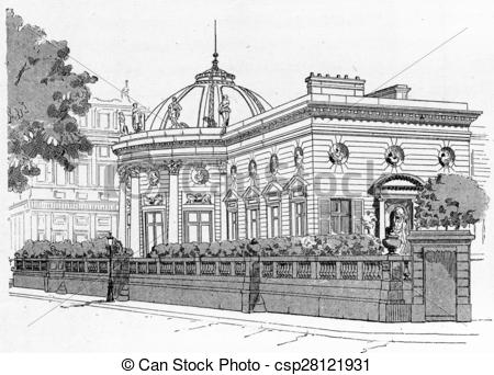Drawings of Facade of the Palace of the Legion of Honour on the.