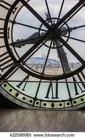 Stock Image of Clock in Orsay museum, Paris k22595065.