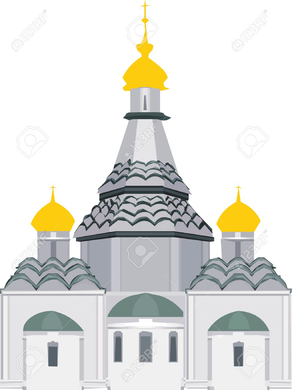 Vector Orthodox Church Standing Alone Royalty Free Cliparts.