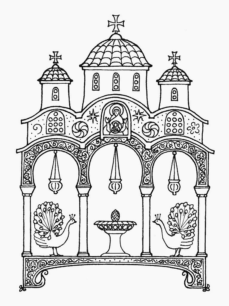 printable orthodox icon coloring pages   Orthodox clipart - Clipground
