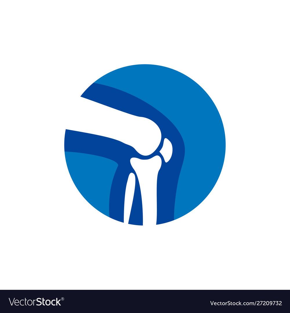 Human bone orthopedic logo concept bone x.