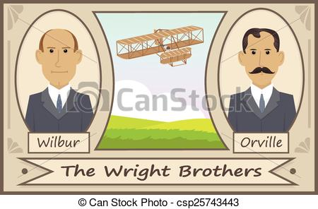 EPS Vector of The Wright Brothers.