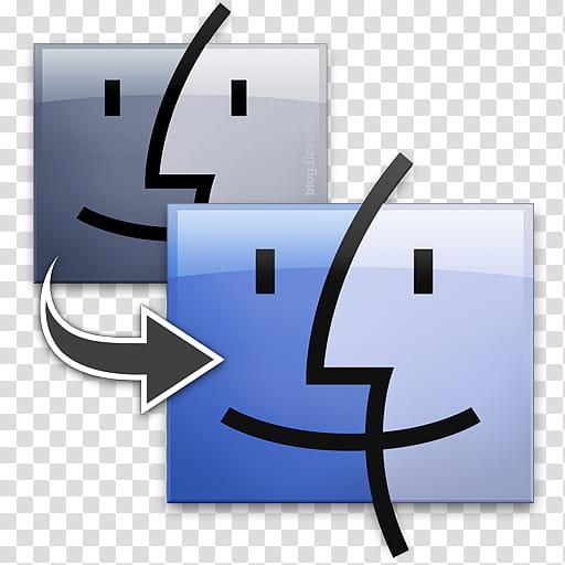 Big Mac OS X Icons, Migration Assistant transparent.