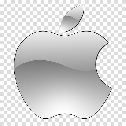 OS X dock icons, Finder, silver Apple logo transparent.