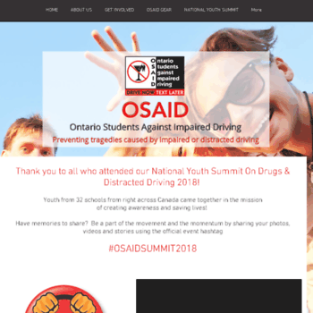 osaid.org at WI. OSAID: Ontario Students Against Impaired.