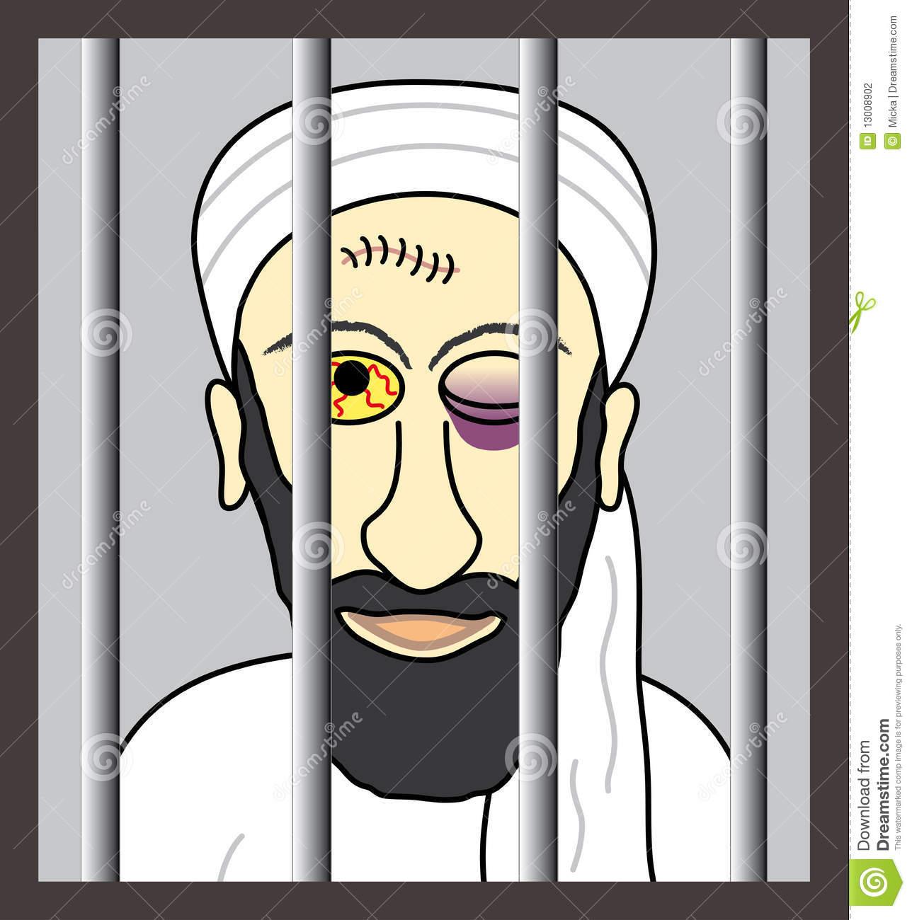 Cartoon Osama Bin Laden Royalty Free Stock Photo.