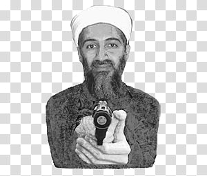 Osama bin Laden transparent background PNG clipart.