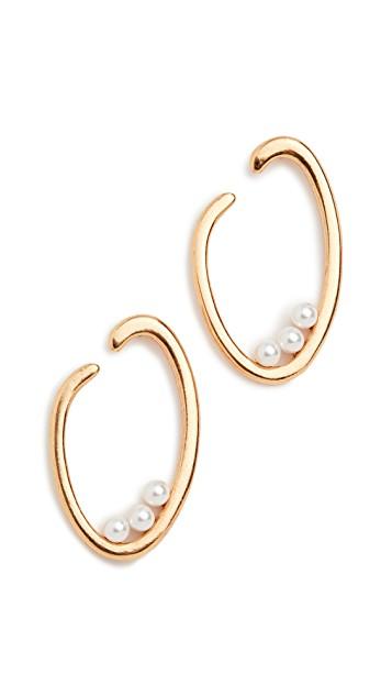 O Logo Pearl Earrings.
