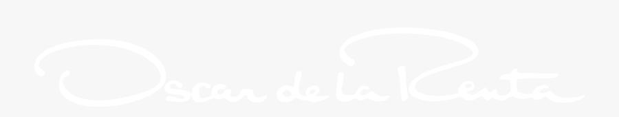 Oscar De La Renta White Logo , Free Transparent Clipart.