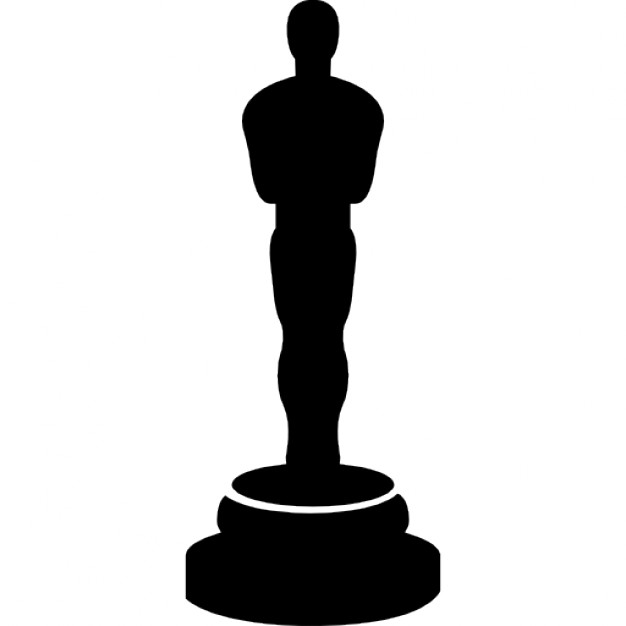 Oscar prize statue silhouette Icons.