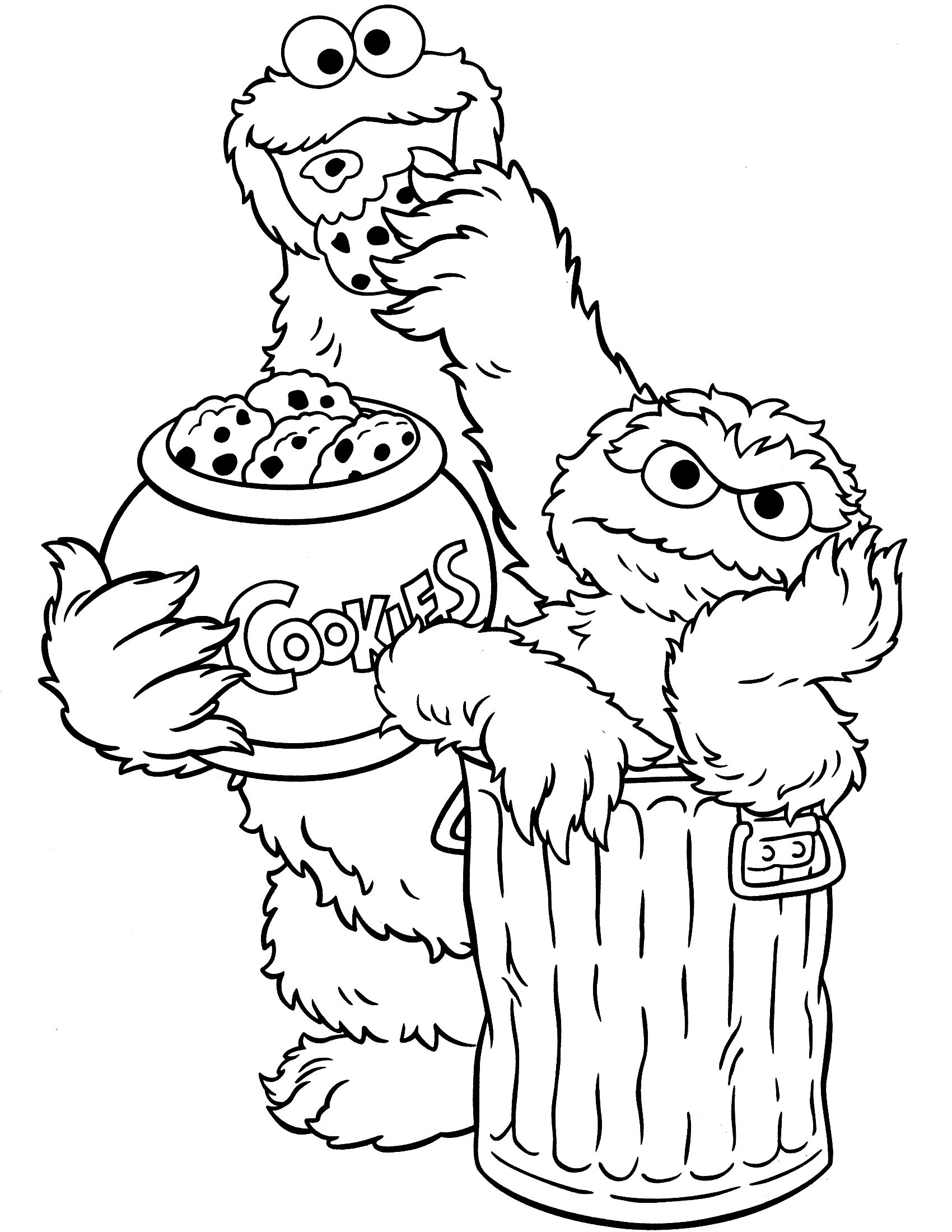 Sesame Street Coloring Pages Free Printable Coloring Page.