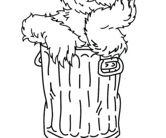 Sesame Street Grundgetta Tag Coloring Pages Oscar The Grouch.