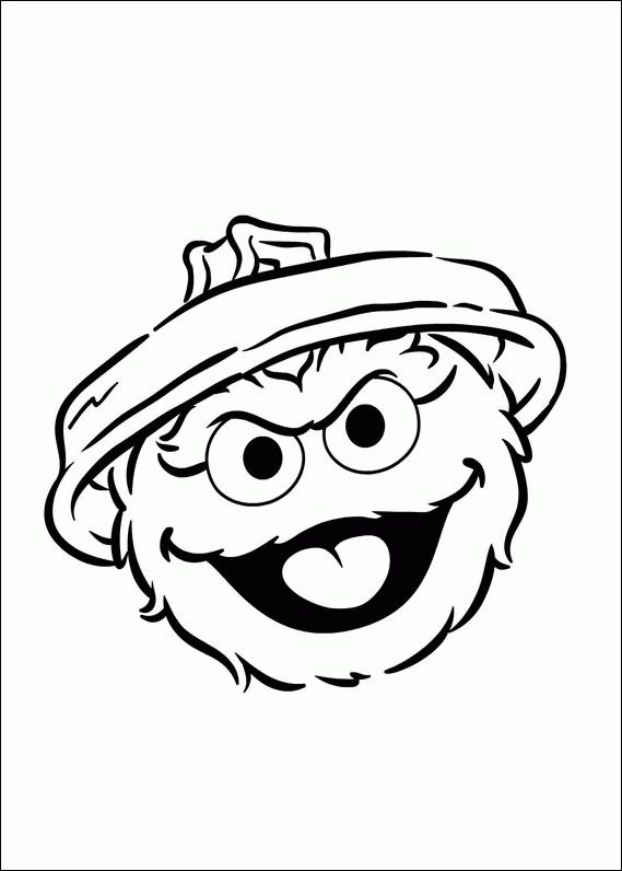 Free Oscar The Grouch Coloring Page, Download Free Clip Art.