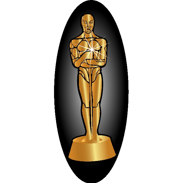 Oscar statue vector image.