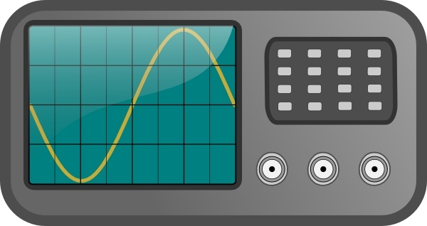 Oscilloscope clip art Free vector in Open office drawing svg.