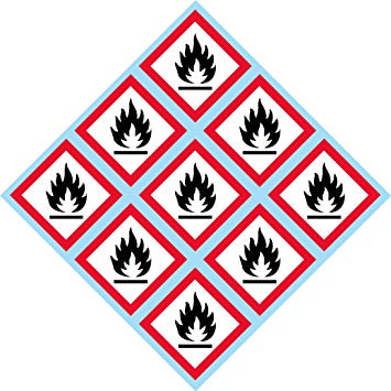 GHS Flame, Fire, Pictogram, 2\