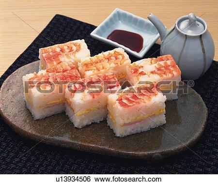 Stock Images of Oshizushi, High Angle View u13934506.
