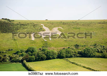 Pictures of Osmington white horse in dorset is098t7az.