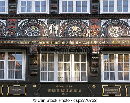 Stock Photo of Old timbered house in Osnabrueck, Germany.