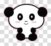 And Gifs Oso Panda transparent background PNG clipart.