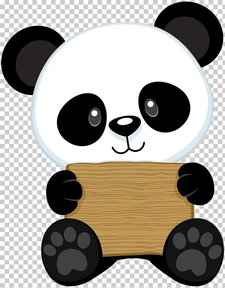 Panda blanco y negro, oso panda gigante dibujando panda rojo.