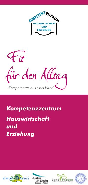 """Flyer zum Präventionsprojekt """"Stark fürs Leben""""."""